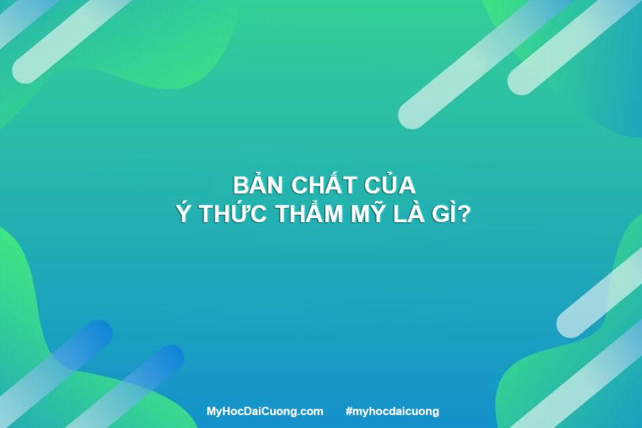 ban chat cua y thuc tham my la gi